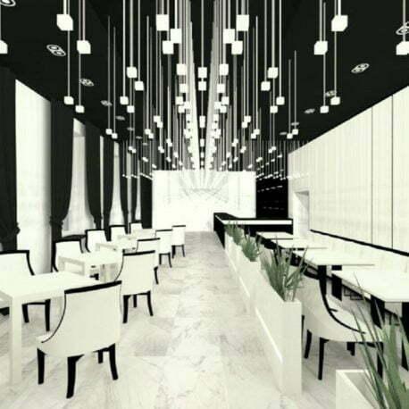 projekt aranżacja restauracji architekt wnętrz wkwadrat