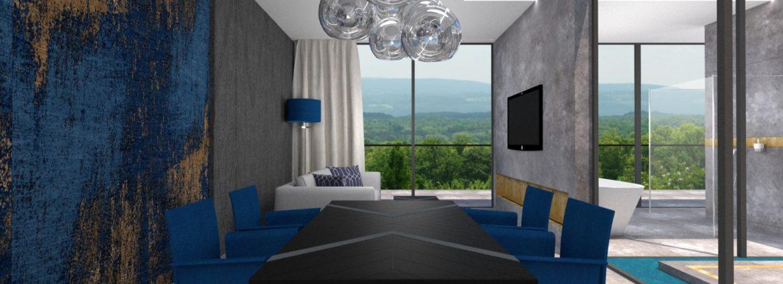 Apratment hotelowy - projekt wnętrza