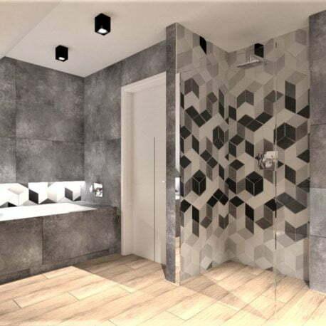 projekt łazienki Toruń, Architekt Wnętrz WKWADRAT