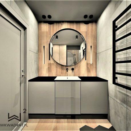 Projekt łazienki - Architekt Wnętrz WKWADRAT